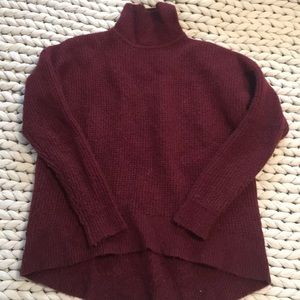 Madewell waffle knit sweater.